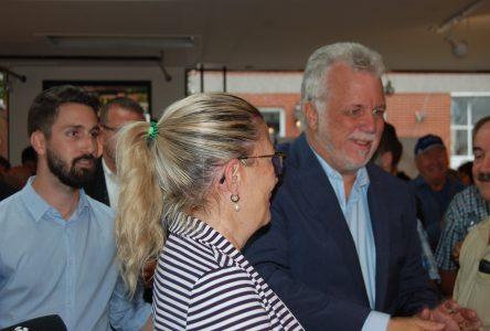 Le premier ministre participe aussi au lancement de la campagne de Simon Laboissonnière
