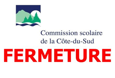 Tous les établissements de la Commission scolaire de la Côte-du-Sud fermeront une heure avant la fin des classes