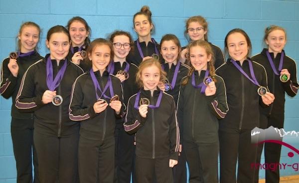Dix-huit gymnastes médaillées