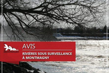 État de la situation des rivières à Montmagny