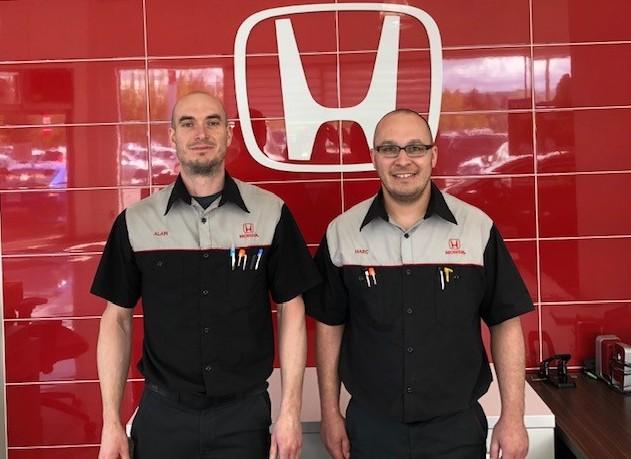 Deux techniciens de Honda Degiro récompensés