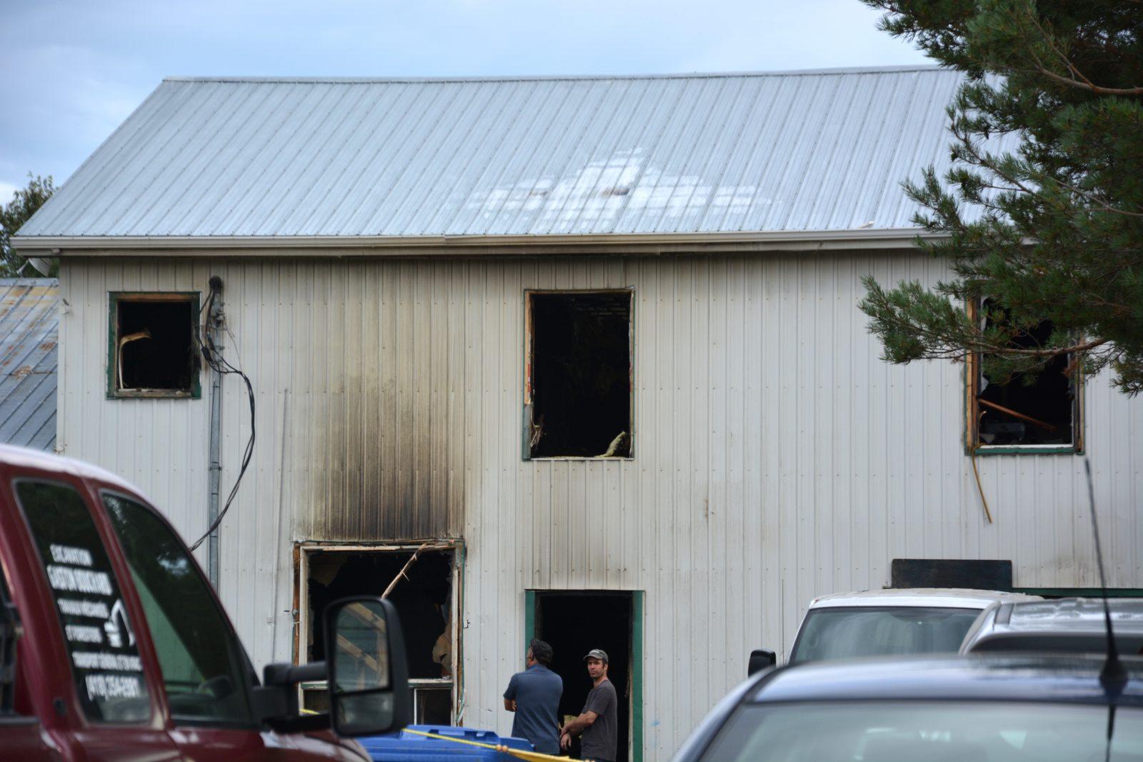 La foudre aurait causé d'importants dommages à l'atelier Les Jouets de bois