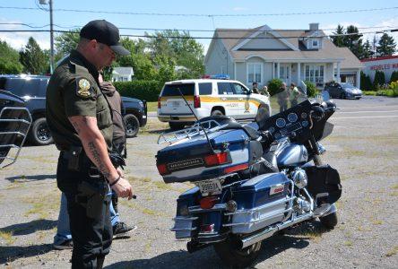 Opération motocyclette à L'Islet