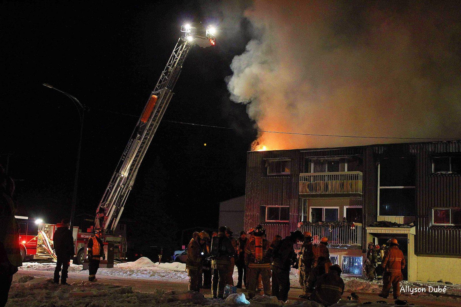 Incendie majeur à La Pocatière