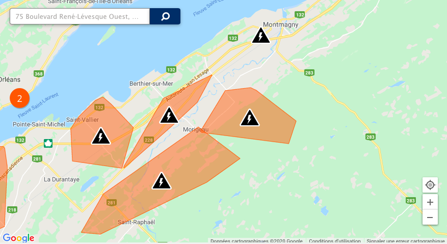 Plusieurs pannes de courant dans la région