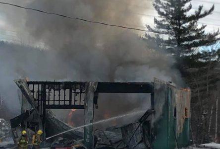 Incendie au Club Sportif Appalaches