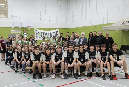 L'école secondaire de Saint-Charles inaugure son nouveau gymnase