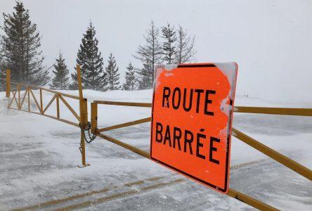 Nouvelles fermetures de routes