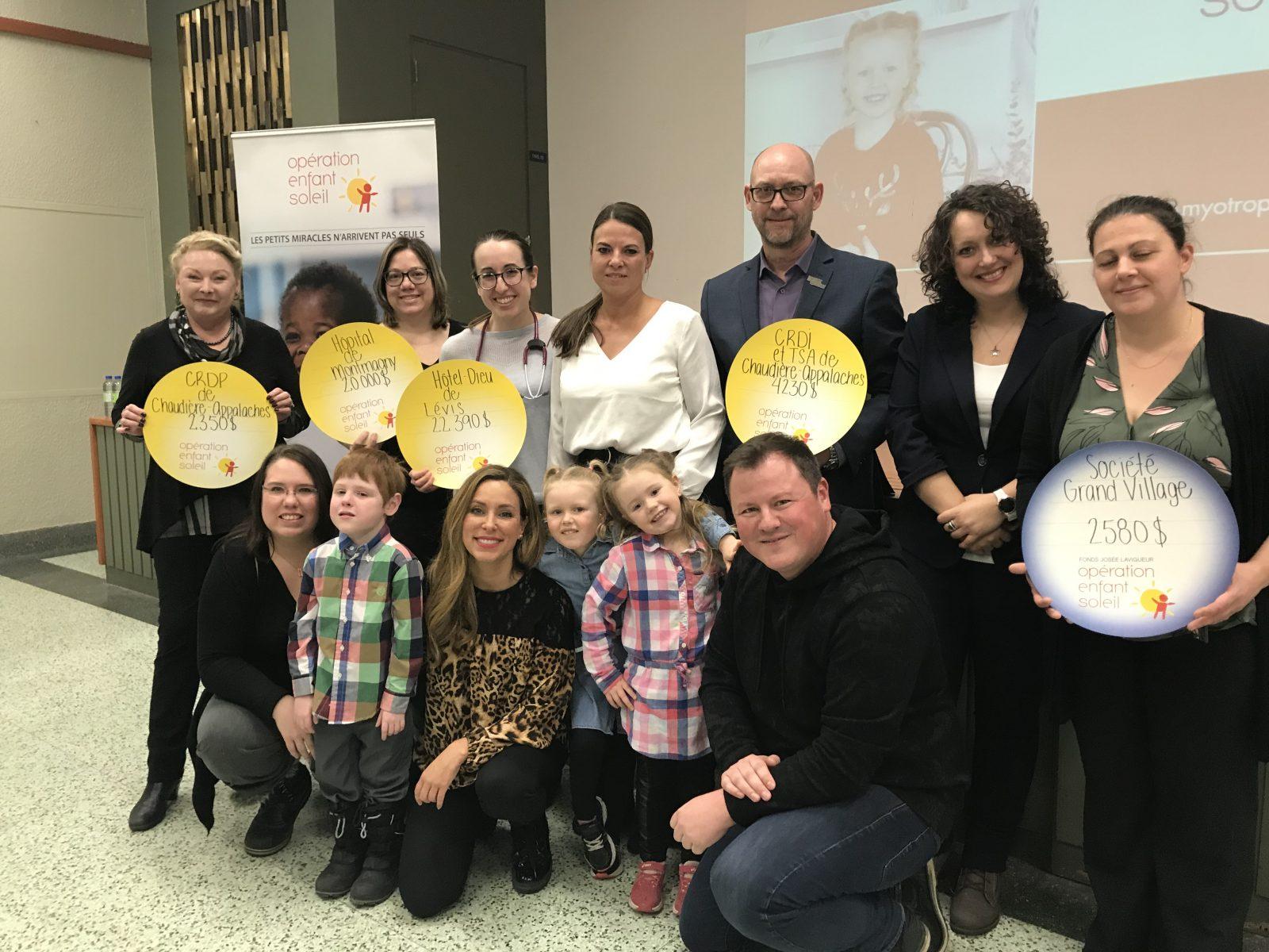 Opération Enfant Soleil octroie 20 000$ à l'Hôpital de Montmagny