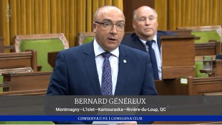 Bernard Généreux rend hommage à ses concitoyens