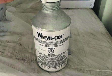Des bouteilles d'un produit dangereux dans le Saint-Laurent