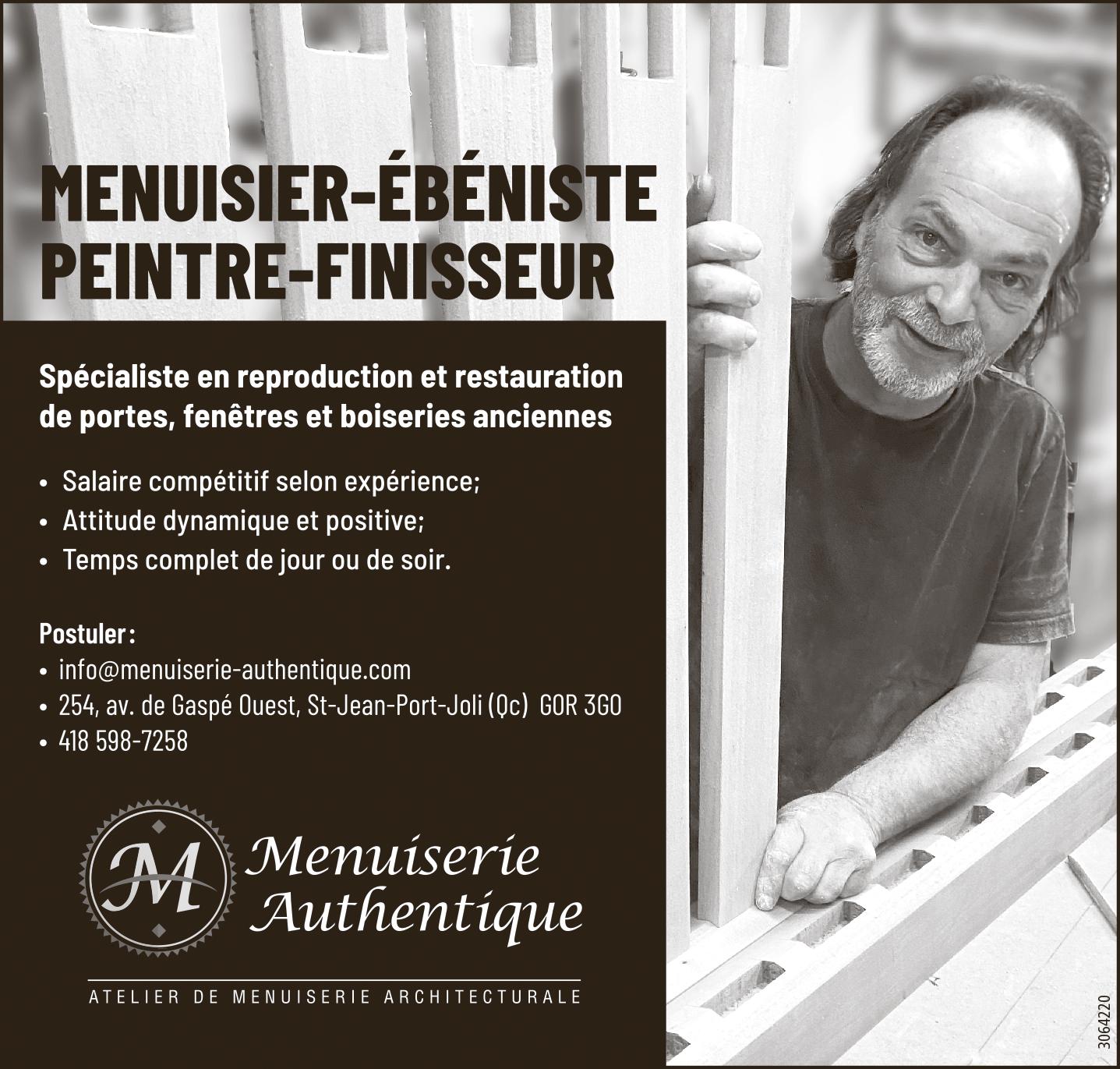 Menuisier-ébéniste / Peintre-finisseur