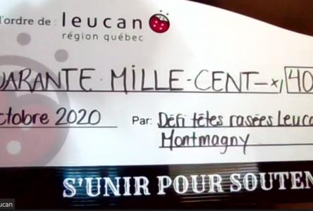 Un total de 40 100$ pour la 11e édition du défi têtes rasées de Montmagny