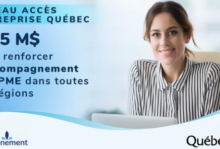 Réseau Accès entreprise Québec: 97,5 millions pour aider les entrepreneurs des régions