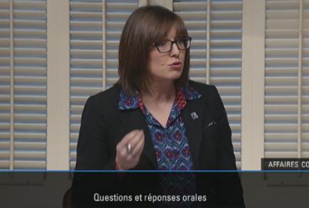 Marie-Eve Proulx retire ses propos à l'Assemblée nationale