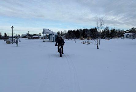 Une piste de fatbike à St-Pamphile
