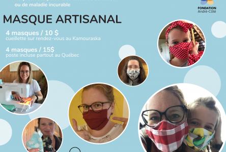 La Fondation André-Côté a amassé plus de 15 000$ grâce aux masques artisanaux