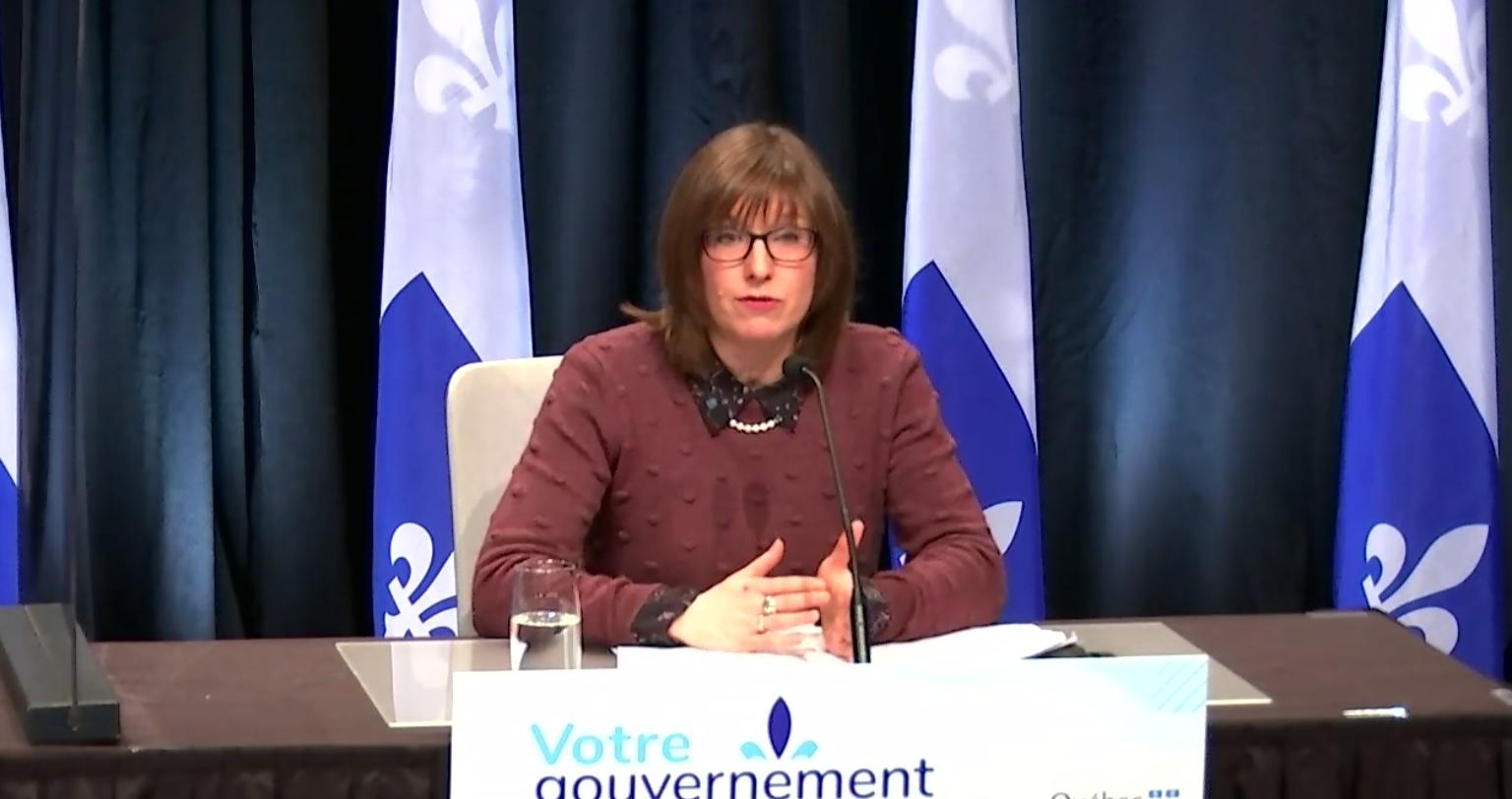 Démission de la ministre Marie-Ève Proulx