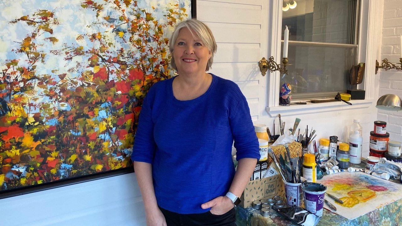 Andrée LaRoche exposera ses toiles à La Coureuse des Grèves