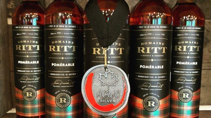 Le Domaine RITT récompensé par le concours canadien des vins