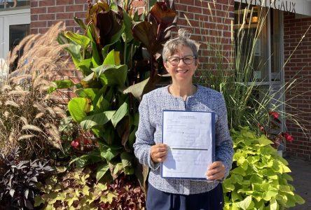 Mireille Thibault a officiellement déposé sa déclaration de candidature