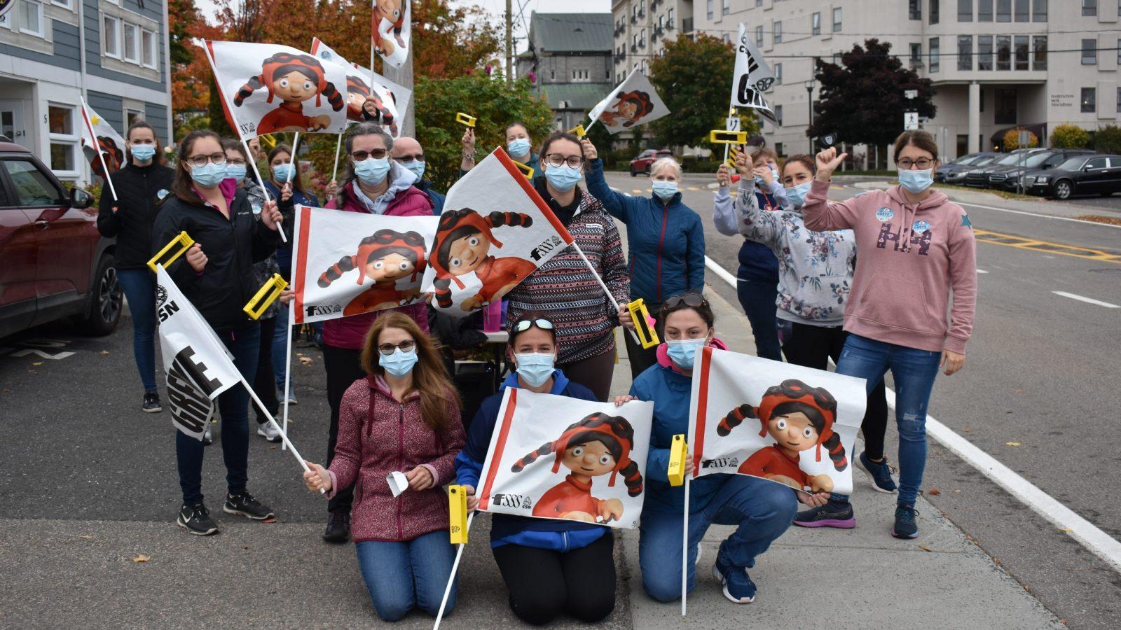 Les CPE de Chaudière-Appalaches en grève