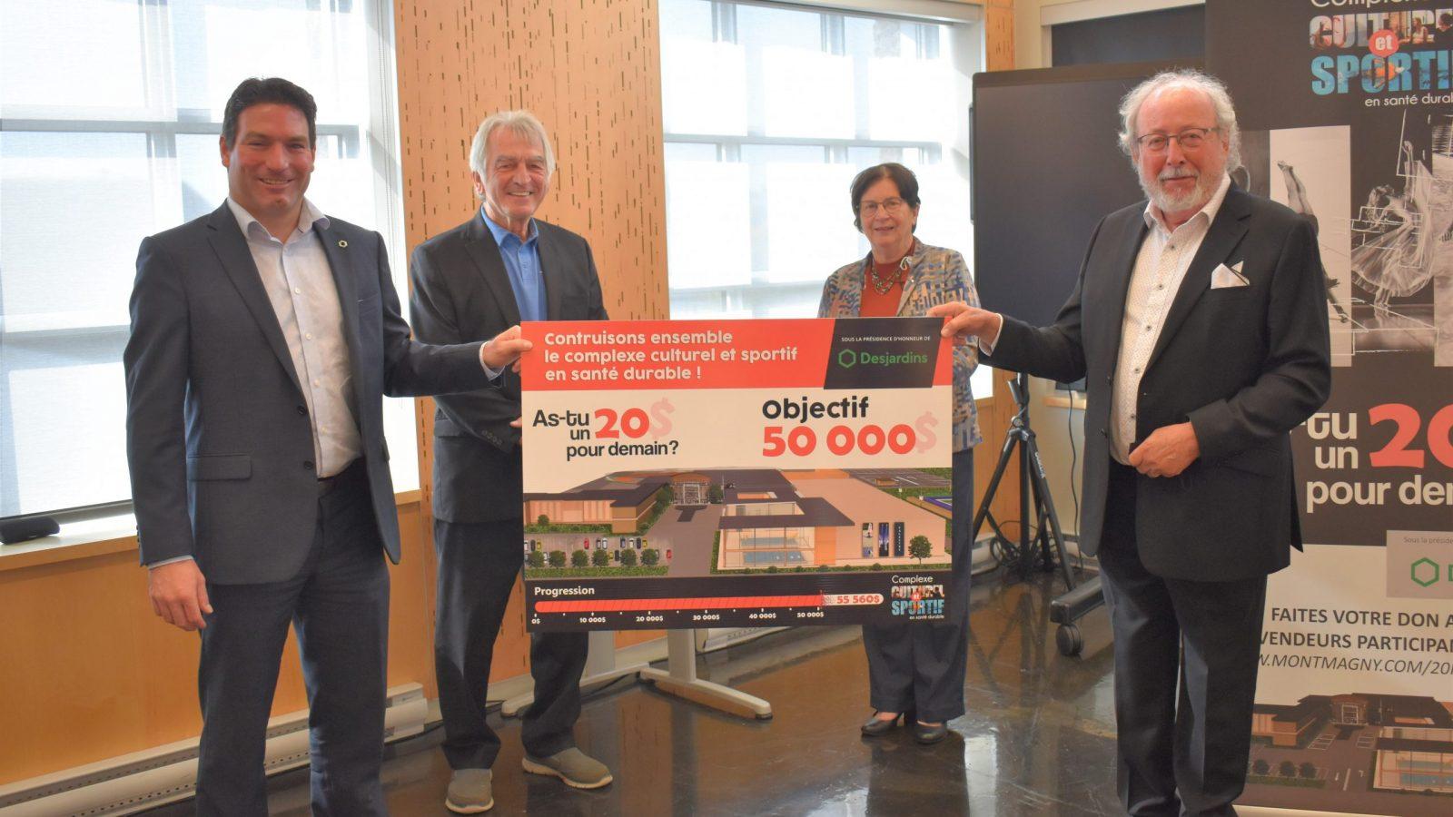 Complexe culturel et sportif en santé durable: 56 000 $ amassés par la campagne citoyenne