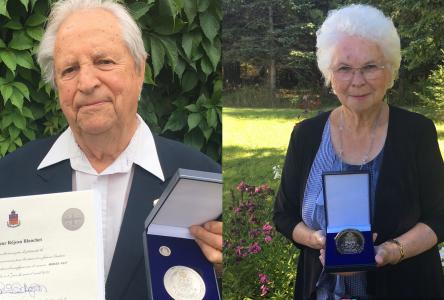 Médaille du Lieutenant-Gouverneur pour Réjean Blanchet et Suzanne Fournier